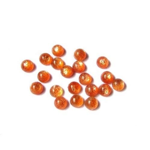 4mm Sunstone Round Cabochon Loose Gemstones