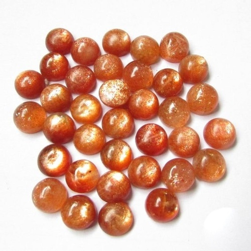 9mm Sunstone Round Cabochon Loose Gemstones