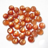 9mm Sunstone Round Cabochon Loose Gemstones