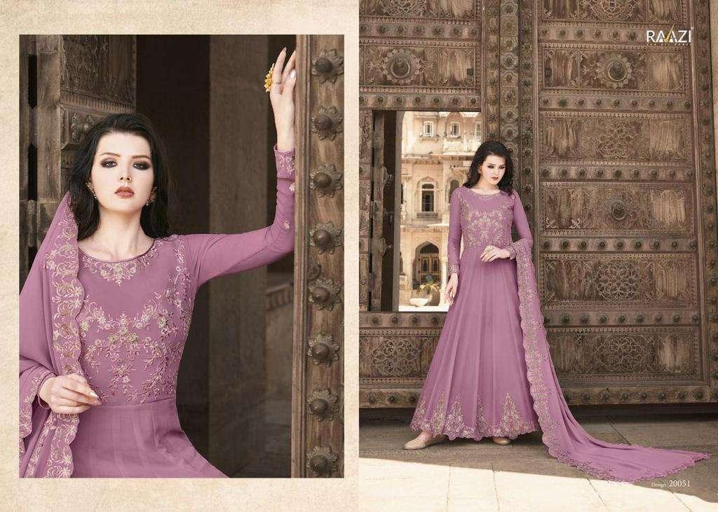 Raazi Almas Georgette Designer Anarkali SuitCatalog Collection