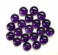 7mm African Amethyst Round Cabochon Loose Gemstones