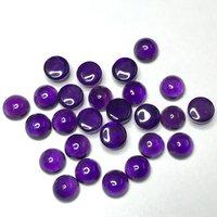 9mm African Amethyst Round Cabochon Loose Gemstones