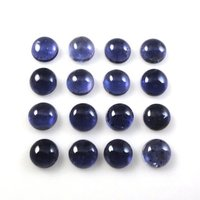 2.5mm Iolite Round Cabochon Loose Gemstones