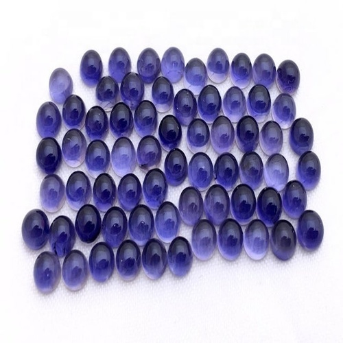 4mm Iolite Round Cabochon Loose Gemstones