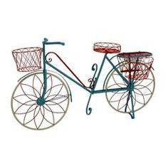 Iron Decorative Flower Pot Stand With Cycle Shaped