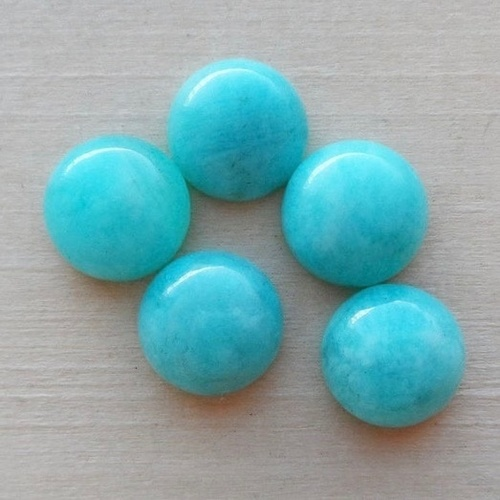 6mm Amazonite Round Cabochon Loose Gemstones