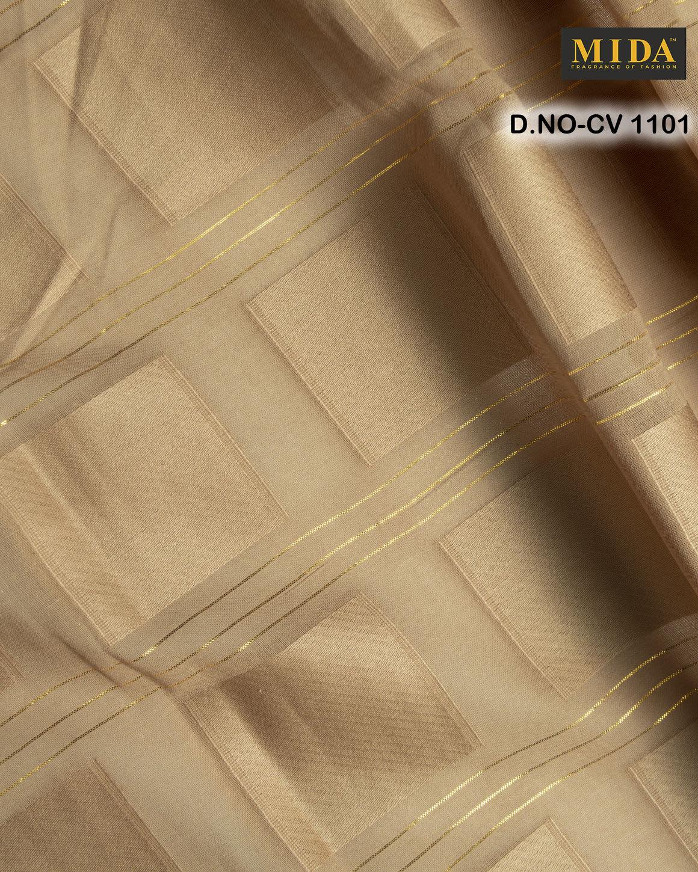 Jari Box  Jacquard Cotton Voile Fabric