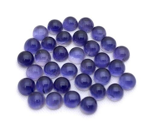 7mm Iolite Round Cabochon Loose Gemstones