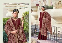 suit with designer dupatta