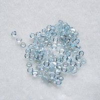 2mm Sky Blue Topaz Round Cabochon Loose Gemstones