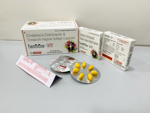 Clindamycin, Clotrimazole, Tinidazole Soft gelatin Vaginal Cap