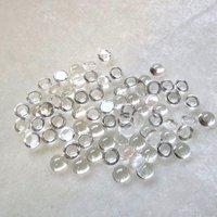 4mm Crystal Quartz Round Cabochon Loose Gemstones