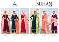 Suhan Vol 5 Satin Georgette Salawar Suit