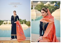 SUHAN VOL 5 SATIN GEORGETTE SALAWAR SUIT