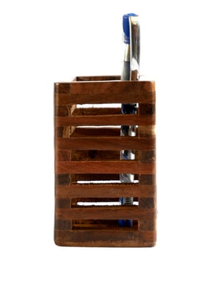Wooden Pen Stand