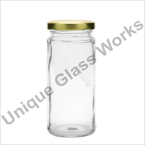 250 Ml Bamboo Glass Jars