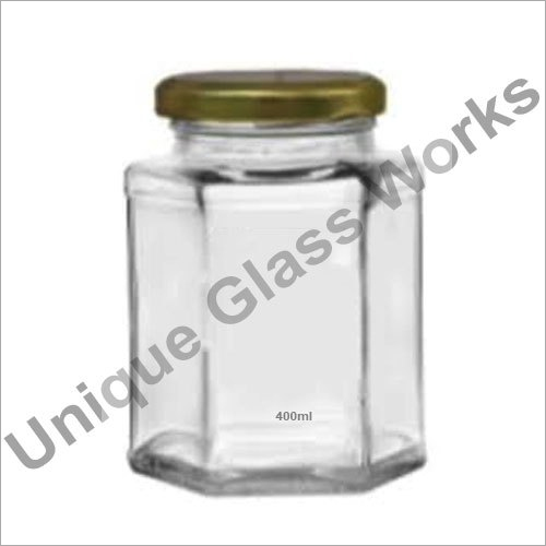 400 ml Hexagonal Glass Jars
