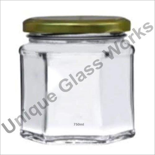 750 ml Hexagonal Glass Jars