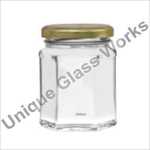 250 ml Hexagonal Glass Jars