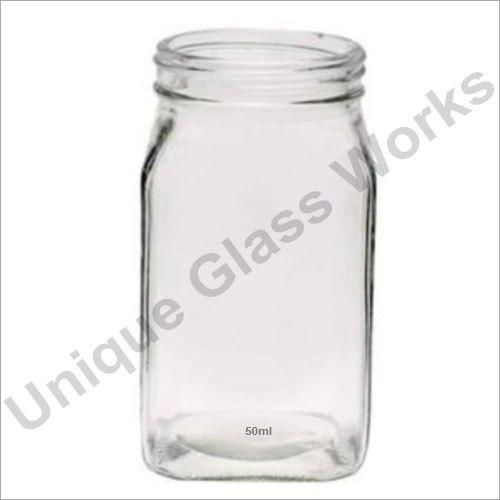 50 ml Square Glass Jars
