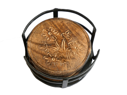 Wood & Iron Tea Coaster