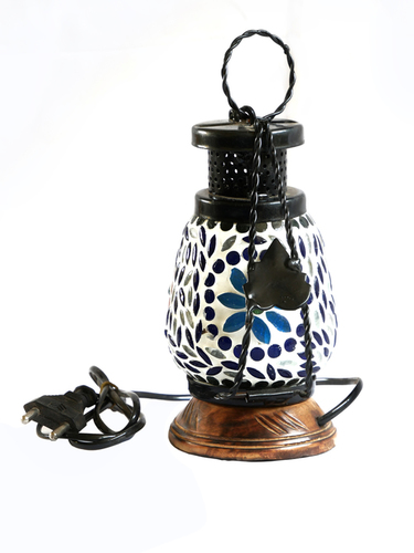 Iron & Wooden Decorative Lamp For Table