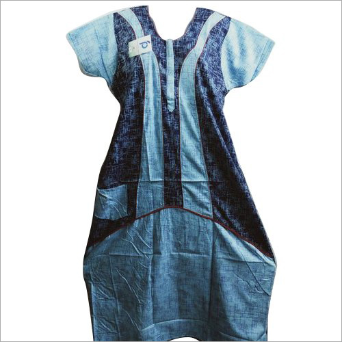 Ladies Blue Cotton Nightgown