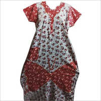 Ladies Cotton Floral Printed Nightgown