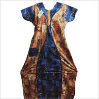 Ladies Cotton Printed Nightgown