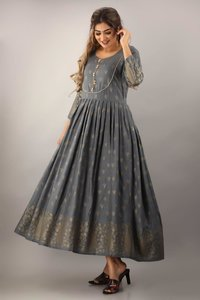 Beautiful Gown Collection With Gold Print