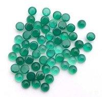 4mm Green Onyx Round Cabochon Loose Gemstones