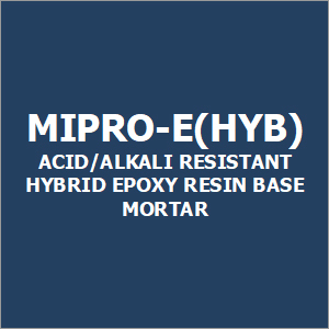 Mipro-E(Hyb) Acid-Alkali Resistant Hybrid Epoxy Resin Base Mortar