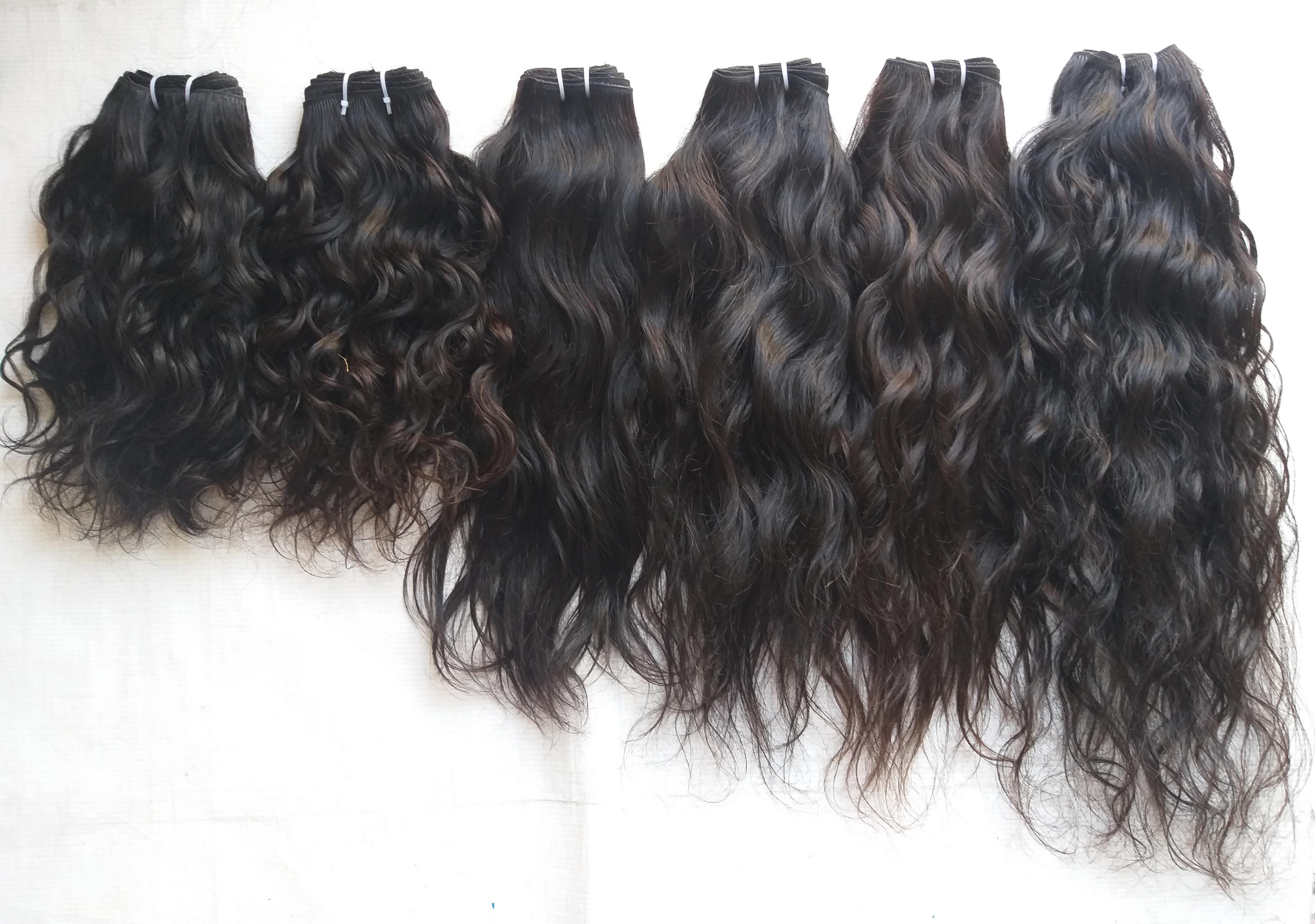 100% Raw Wavy Single Donor Hair