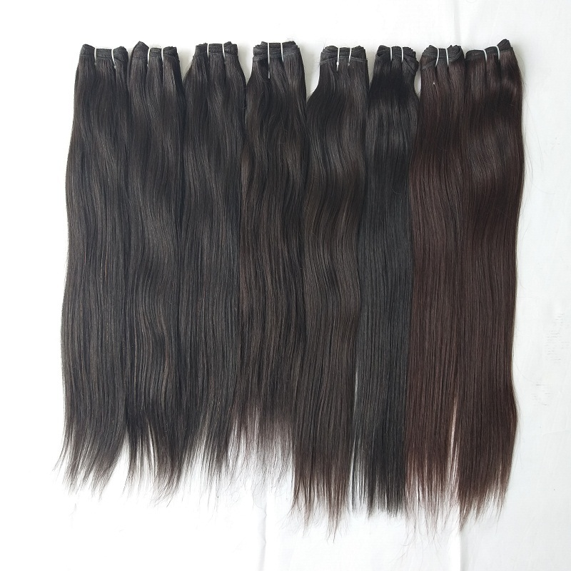 Natural straight 100% Human Hair Extensions Natural Color