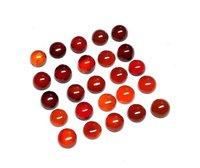 6mm Red Onyx Round Cabochon Loose Gemstones
