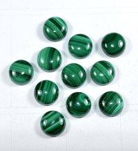 7mm Malachite Round Cabochon Loose Gemstones