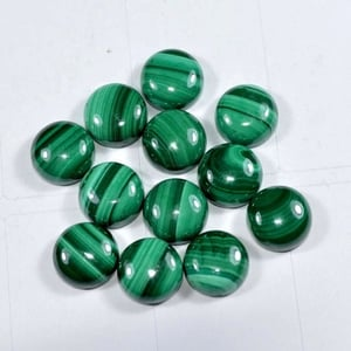 8mm Malachite Round Cabochon Loose Gemstones