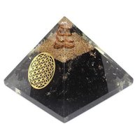 Black Agate Chips Orgone Pyramid