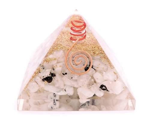 Rambo Moonstone Chips Orgone Pyramid