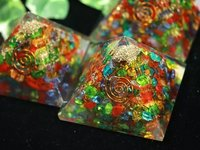 Multi Color Chips Orgone Pyramid