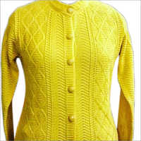 Ladies Yellow Cardigan