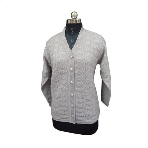 Ladies Woolen Full Sleeve Cardigan