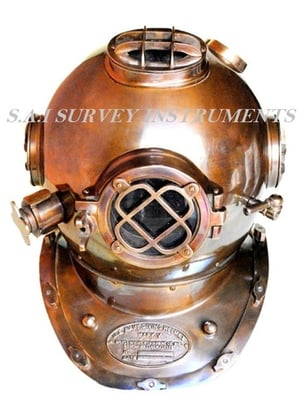 Antique Mark V Diving Helmet Collectible Marine Nautical Divers Helmet Navy Mark V Art And Collectible