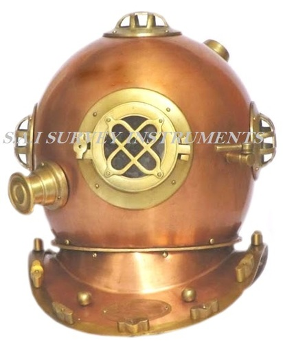 Us Navy Divers Helmet Mark IV Copper and Brass Antique Finish