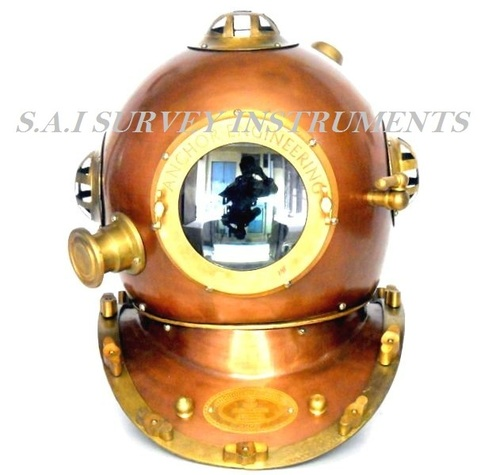 Anchor Engineering Diving Helmet Collectible Copper and Brass Antique Diving Helmet Nautical Decor Gift