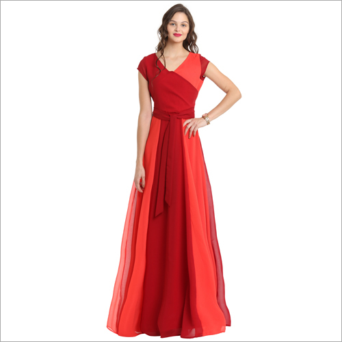 Ladies Red and Pitch Dress