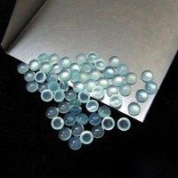 4mm Aqua Chalcedony Round Cabochon Loose Gemstones