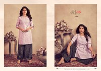 Meetu Jents Kalakand Cotton Staff With Embroidery Work Kurtis