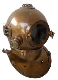 1921 Germany Anchor Engineering Diving Helmet Collectible Brown Antique Nautical Decorative Gift