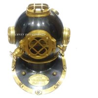 Black and Brass Antique Nautical Divers Helmet Mark V U.S. Navy Diving Helmet